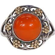 Arts & Crafts Bernard Instone Silver Carnelian Ring