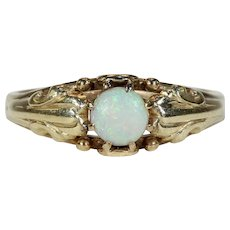 Antique Arts & Crafts Opal Solitaire Ring
