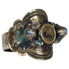 Vintage Frog Compass Japanese Ring