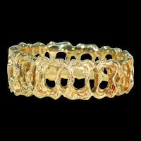 Vintage Gold Funky Band Ring
