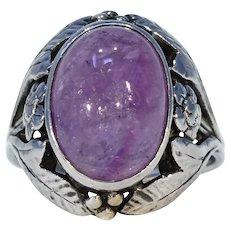 Silver Arts & Crafts Bernard Instone Amethyst Ring