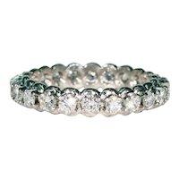 Vintage 1960s Diamond Platinum Eternity Band Ring Wedding Engagement