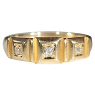 Antique 18k Victorian Diamond Ring Hallmarked Chester 1895
