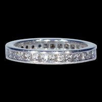 Vintage Princess Cut Diamond Eternity Band Ring, 1.75 cwt Size 7