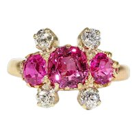 Edwardian Gold Ruby Diamond Ring