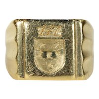 Intaglio Seal Ring French 18k Gold Large