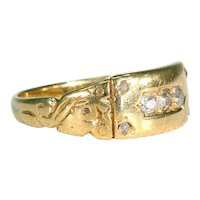 Edwardian Diamond Stacking Ring 18k Gold