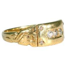 Edwardian Diamond Stacking Ring 18k Gold