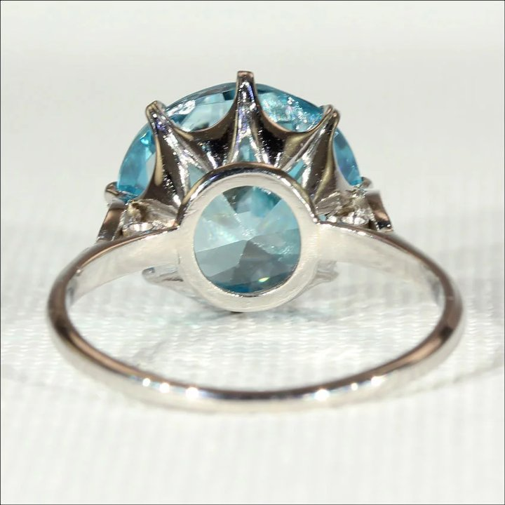yellow silver pc zircon ring gold cluster antique shop htm diamond dress and detail circa sale blue for ac ct jewellery