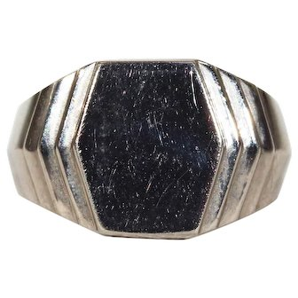 Vintage Art Deco Silver French Signet Ring
