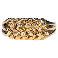 Victorian 18k Gold Keeper Ring Love Knot Hallmarked 1901