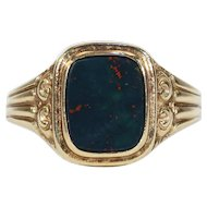 Vintage Bloodstone Ring 14 karat Gold