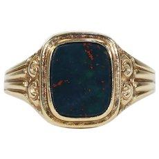 Vintage Bloodstone Ring 14 karat Gold