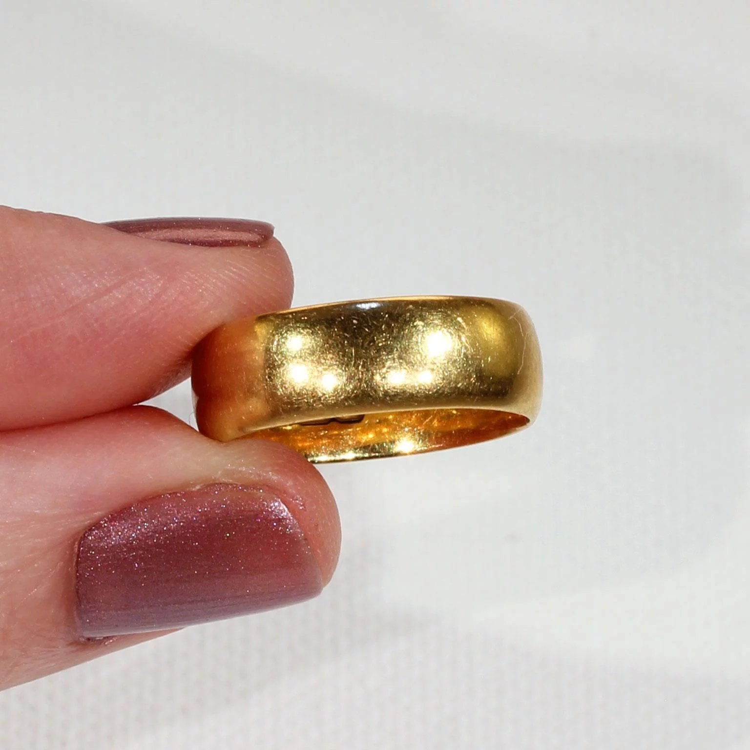 Vintage 22k Gold Wedding Band Ring Size 7 Click To Expand