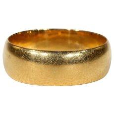 Vintage 22k Gold Wedding Band Ring Size 7