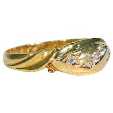 Victorian 5 Stone Diamond Ring in 18k Gold