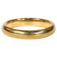 Vintage 22k Gold Wedding Band Ring Size 9