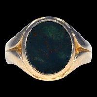 Victorian Bloodstone Gold Signet Ring