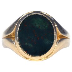 Victorian Bloodstone Gold Signet Ring