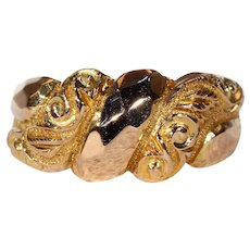 Edwardian Gold Love Knot Ring Hallmarked 1918