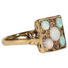 Art Deco Opal Diamond Ring
