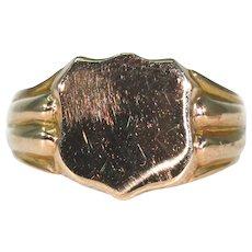 Victorian Signet Ring 9K Rose Gold, Birmingham 1867