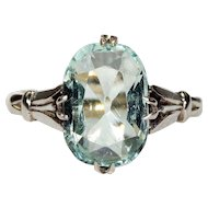 Vintage Art Deco Aquamarine Ring c. 1920