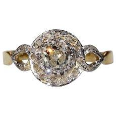 Antique Edwardian Diamond Ring 18k Gold and Platinum