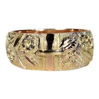Antique Gold Buckle Ring 9k Gold 1899
