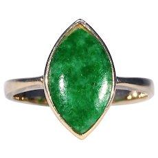 Vintage Gold Jade Ring 14k