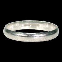 Vintage Platinum Wedding Band Ring Size 6.25
