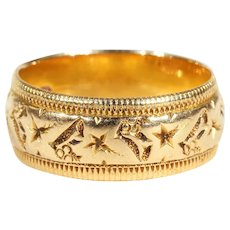 Ivy Embossed Band Ring 18k Gold