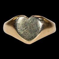 Antique Heart Signet Ring 18k Gold Hallmarked 1918
