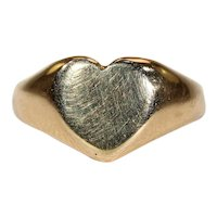 Antique Heart Signet Ring 18k Gold Hallmarked 1918