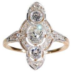 Edwardian Old European Cut Diamond Engagement Ring