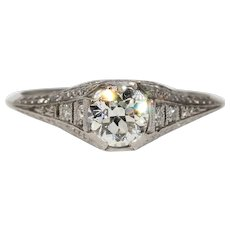 Vintage Art Deco Platinum Diamond Ring
