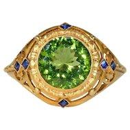 Stunning Art Deco Austrian Peridot Ring
