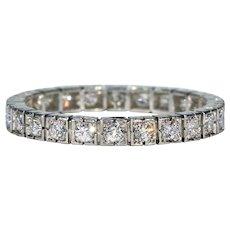 Vintage Diamond Eternity Band Wedding Ring Size 10
