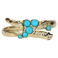 Victorian Turquoise Love Knot Ring