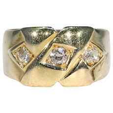 Funky Large Victorian Love Knot Diamond Ring Hallmarked 1884