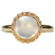 Vintage Moonstone Gold Ring