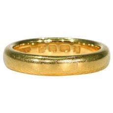 Vintage 22k Gold Wedding Band Ring Size 6.5 US