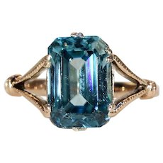 Antique Edwardian Blue Zircon Ring
