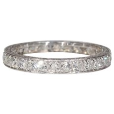 Antique European Platinum Eternity Band c 1920