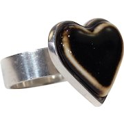 Vintage Anton Michelsen for Royal Copenhagen Silver Heart Ring