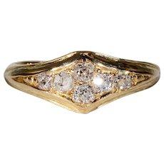 Vintage Art Deco Diamond Ring 18k Gold Hallmarked 1927