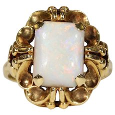Antique Victorian Opal Solitaire Ring Gold