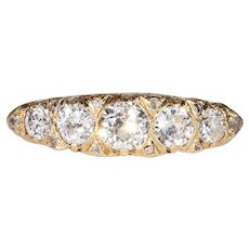 Antique 5 Stone Diamond Ring with Arthritic Shank