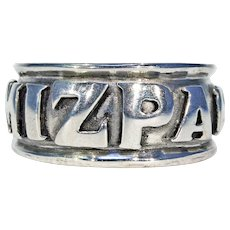 Vintage Large Men's 'Mizpah' Ring Sterling Silver