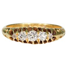 Edwardian 5 Stone Diamond Ring in 18k Gold